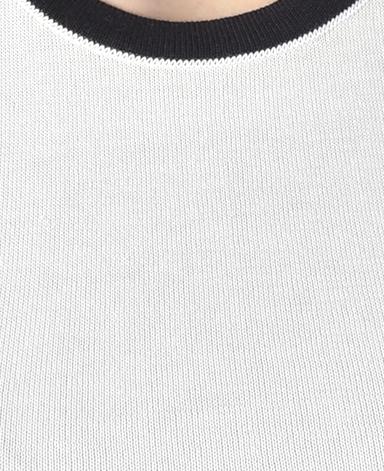 ノースリーブセーター/18ゲージ コットンニット
