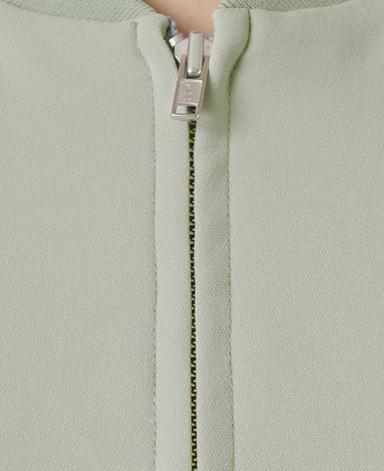 ジップブルゾン/平二重織り