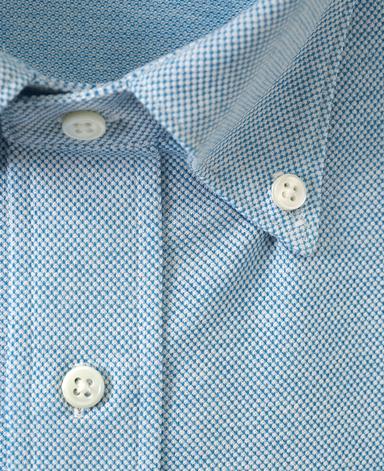 綿麻ピケシャツ/カノコニット