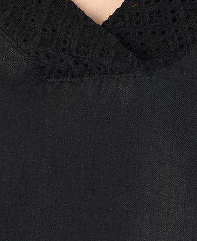 ブラウス/刺繍レース・平織り