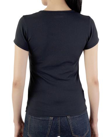 クルーネック半袖Tシャツ/ブラック