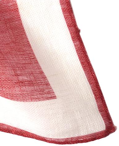 リネンポケットチーフ/イタリア製