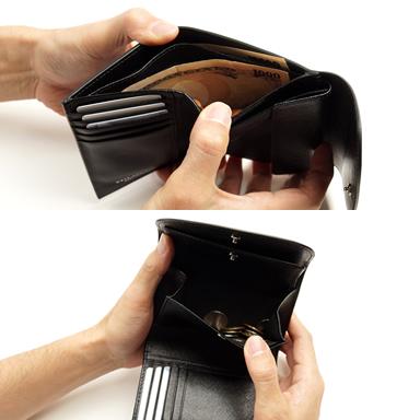 三つ折財布/コードバン