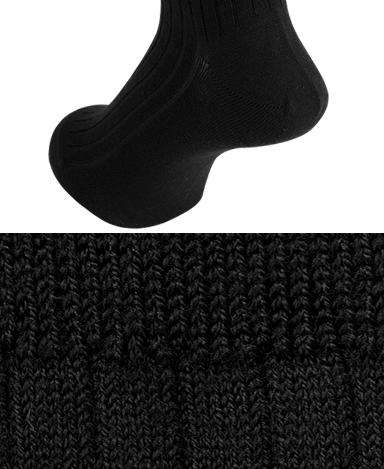 RIBBED WOOL DRESS SOCKS - Strech