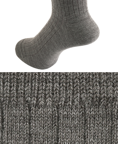 RIBBED WOOL DRESS SOCKS - Strech