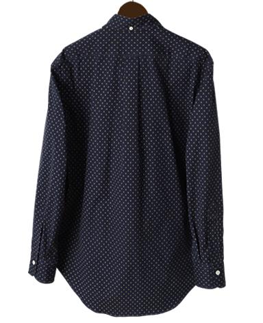 VINTAGE IVY シャツ/ネイビーフーラード
