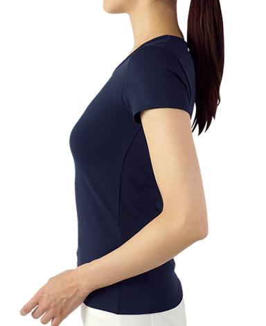 クルーネック半袖Tシャツ/ネイビー