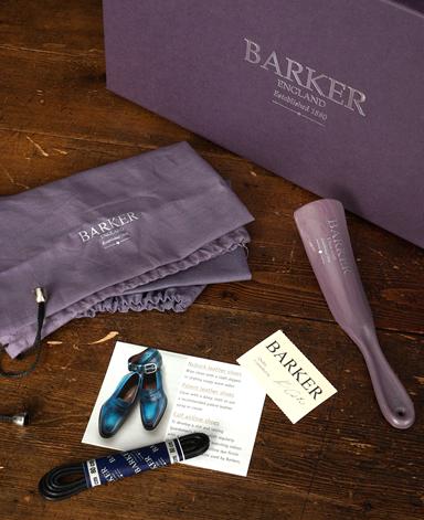 BARKER ウイングチップシューズ/イギリス製/カーフレザー