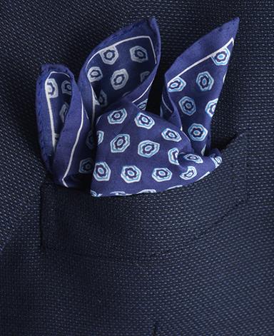 コットンポケットチーフ/イタリア製