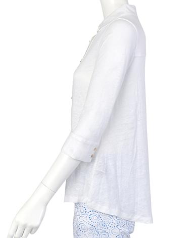 ESCALES/リネンポロシャツ