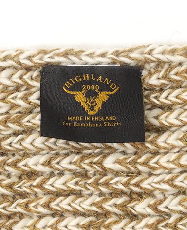 ウールマフラー/畦編み