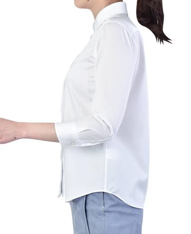七分袖 マンハッタンクラシックシャツ/ツイル