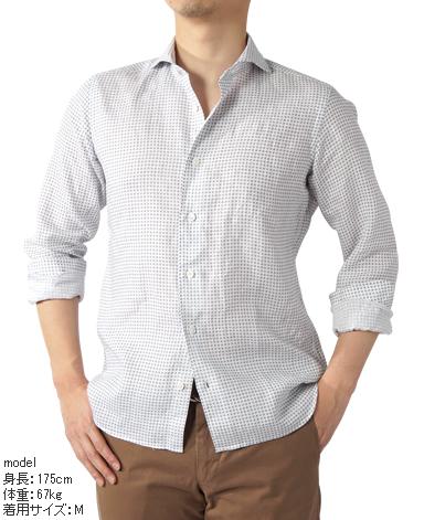 カジュアルシャツ<リネン>/スリム(フルワイド)