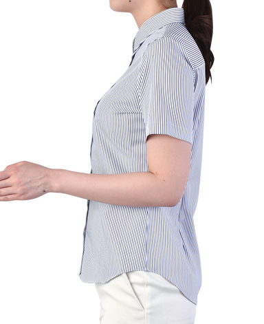 半袖マンハッタンスリムシャツ/ツイル