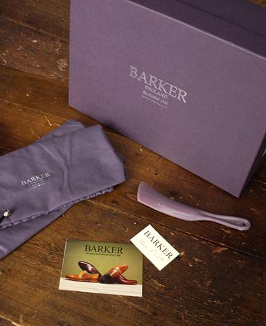 BARKER レザーサイドゴアブーツ/イギリス製/カーフレザー