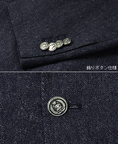 ITALIAN WOOL LINEN DOUBLE-BREASTED JACKET