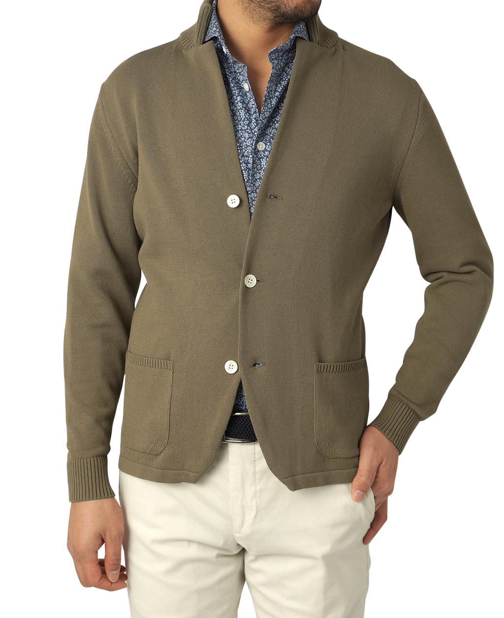 強撚コットンニットジャケット(M ブラウン系): メンズ   メーカーズシャツ鎌倉 公式通販   MAKER'S SHIRT KAMAKURA