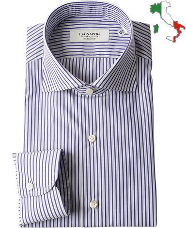 ナポリドレスシャツ/イタリア製(ワイドカラー)
