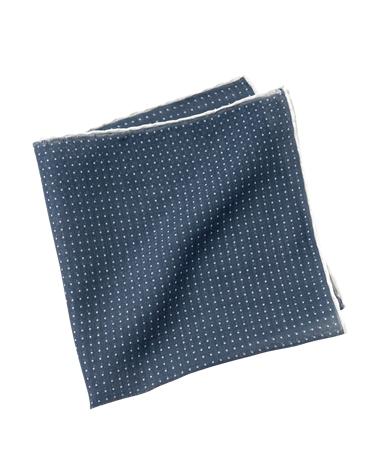 コットンポケットチーフ/カシミヤ混 イタリア製