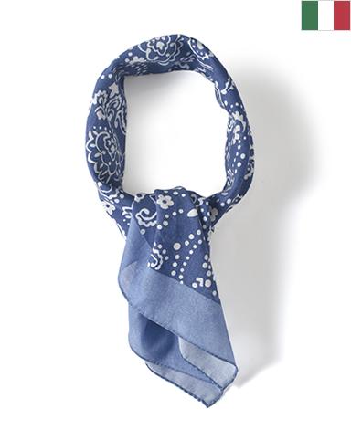 スカーフ(花柄)/平織り