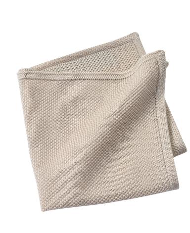ウールニットポケットチーフ/イタリア製