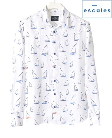 ESCALES/プリントシャツ
