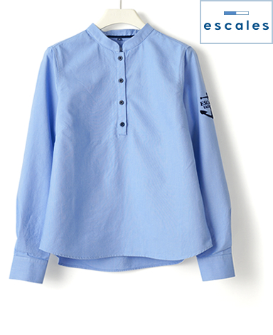 ESCALES/刺繍入りシャツ