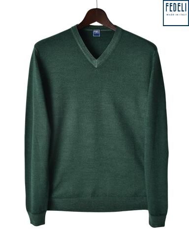 FEDELI ニット/Vネックセーター