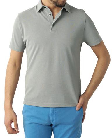 強撚ニットポロシャツ