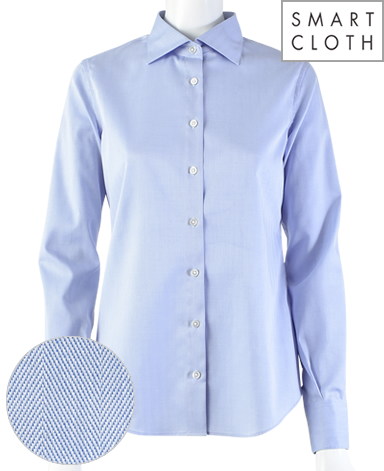 スリムベーシックシャツ/ヘリンボーン