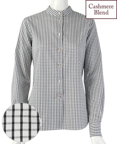 スタンドカラーシャツ/ツイル