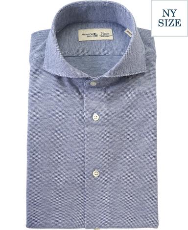 NY綿麻ピケシャツ/カノコニット