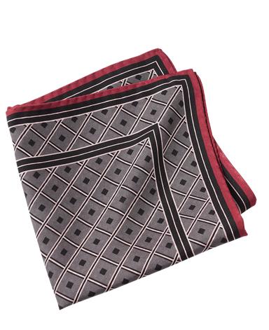 シルクポケットチーフ/両面ダブルプリント イタリア製