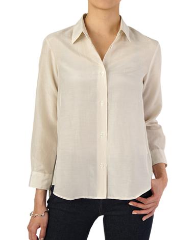 ブレスレット丈 小襟シャツ