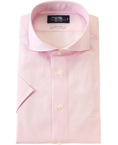 半袖シャツ/スリム:着丈長め