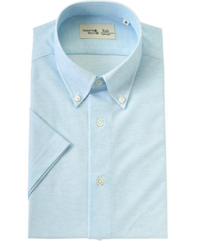 半袖ニットシャツ/36ゲージニット(シングル)
