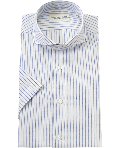 半袖リネンシャツ