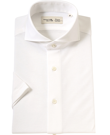 半袖強撚ピケシャツ/ICE TWIST【春夏向き】