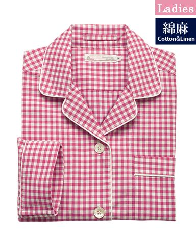 レディース綿麻パジャマ