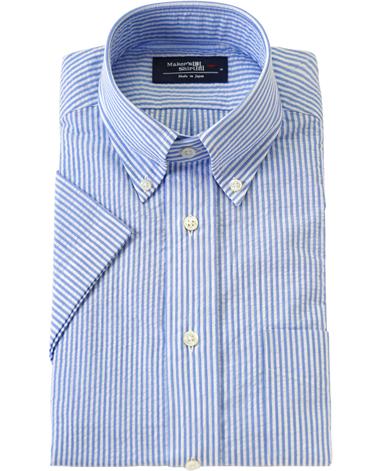 半袖シャツ/スリム:ポケットあり