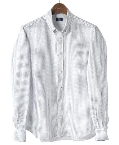 カジュアルシャツ<リネン>/スリム(ボタンダウン)