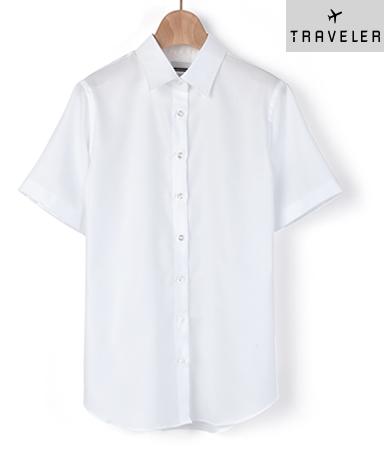 半袖マンハッタンスリムシャツ/バスケット