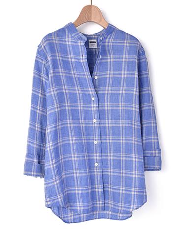 スタンドカラー マンハッタンクラシックシャツ/リネン