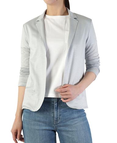 ラミーコットンニットジャケット/平二重織