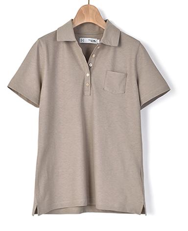 ICE TWIST ポロシャツ/強撚ニット
