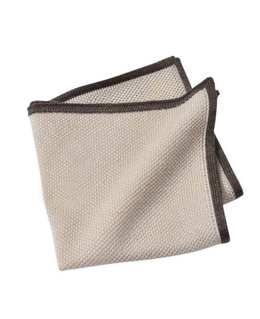 羊毛针织口袋方巾
