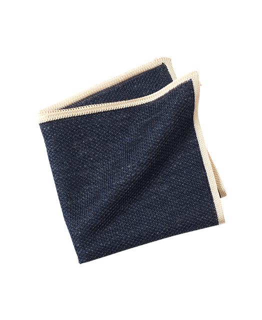 针织口袋方巾