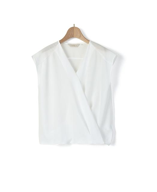 French Sleeve V-Neck Blouce