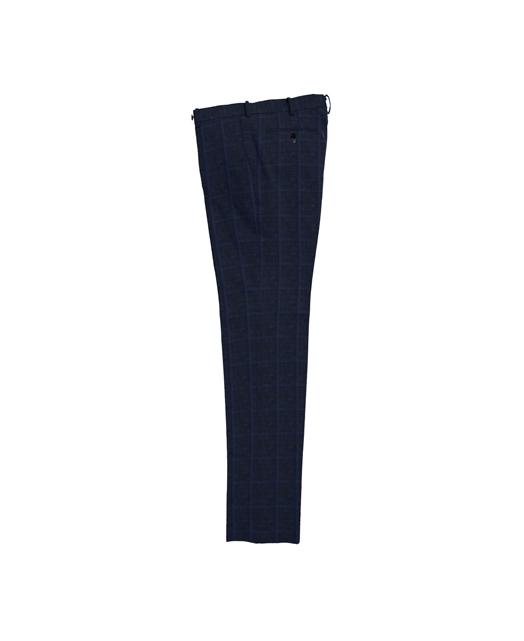 棉麻混纺修身西裤