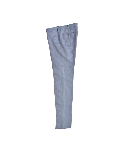 棉麻混纺休闲西裤